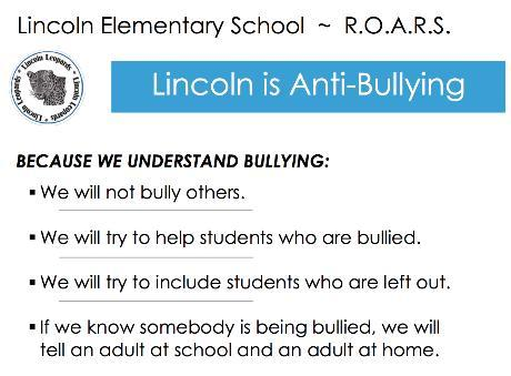 Lincoln's Anti-Bullying Rules